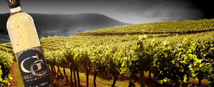 Dárkové víno se zlatem